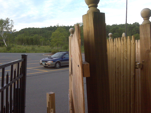 Wood Fences Round Hill Fence